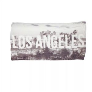 Michael Stars Las Angeles Skyline Scarf Wrap Black